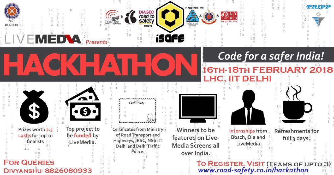 IRSC, IIT Delhi & Live Media's Hackathon: Code For Safer